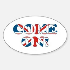 come on (union jack) Decal