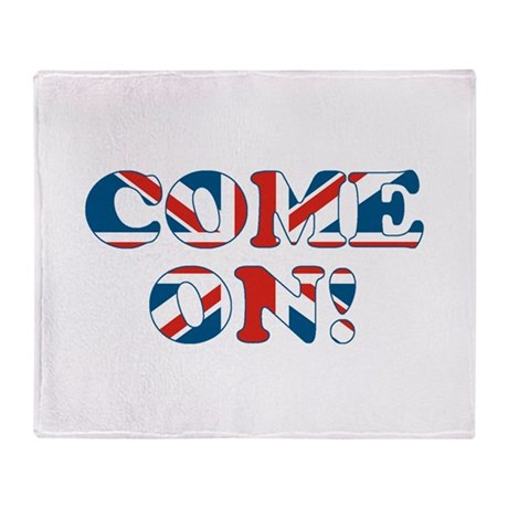 come on (union jack) Throw Blanket