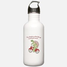 Turtle Riding Bicycle Water Bottle