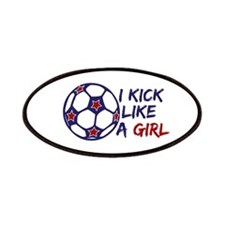Kick Like A Girl Soccer Patches
