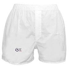 Kick Like A Girl Soccer Boxer Shorts