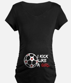 Kick Like A Girl Soccer T-Shirt