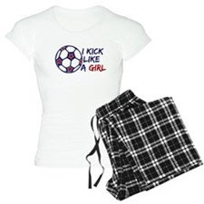 Kick Like A Girl Soccer Pajamas