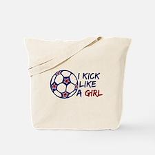 Kick Like A Girl Soccer Tote Bag