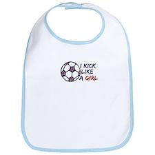 Kick Like A Girl Soccer Bib