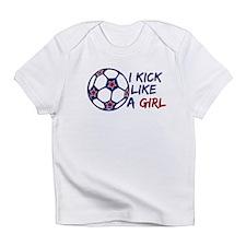 Kick Like A Girl Soccer Infant T-Shirt