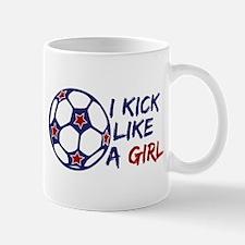 Kick Like A Girl Soccer Mug