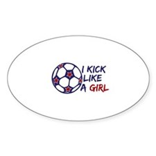 Kick Like A Girl Soccer Decal
