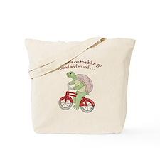 Turtle Riding Bicycle Tote Bag