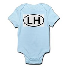LH - Initial Oval Infant Creeper