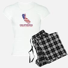 CA USA Flag Map 2 Pajamas