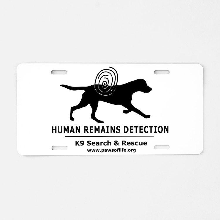 HRD Dog Aluminum License Plate