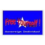 Free Yourself Rectangle Sticker