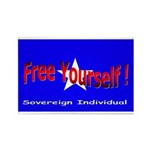 Free Yourself Rectangle Magnet (10 pack)