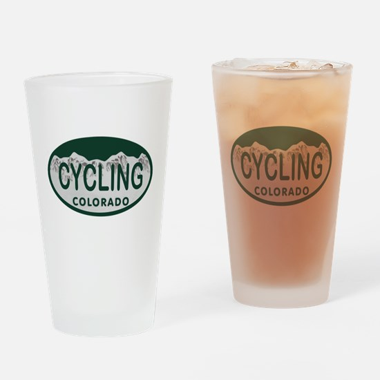 Cycling Colo License Plate Drinking Glass
