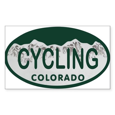 Cycling Colo License Plate Sticker (Rectangle)