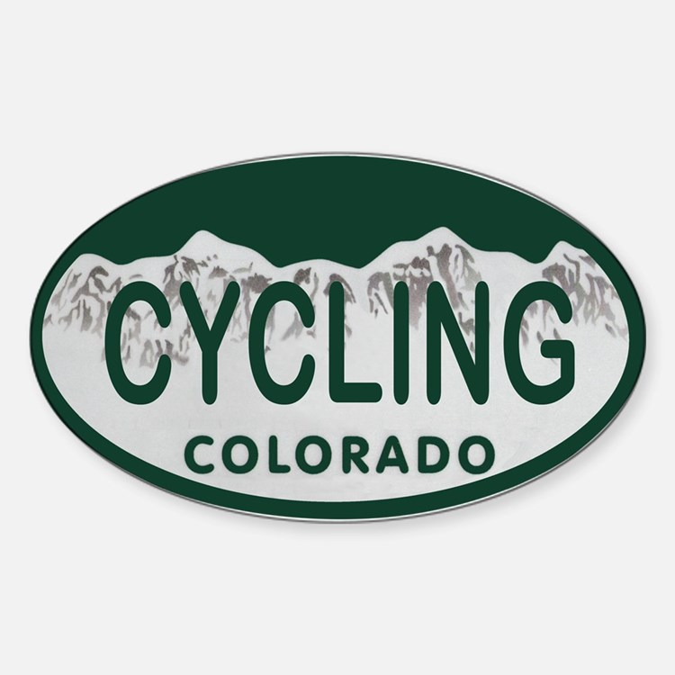 Cycling Colo License Plate Decal