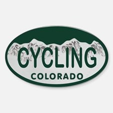 Cycling Colo License Plate Sticker (Oval 10 pk)