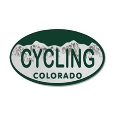 Cycling Colo License Plate Wall Decal