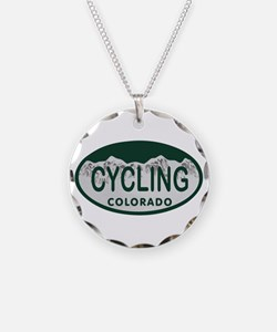 Cycling Colo License Plate Necklace