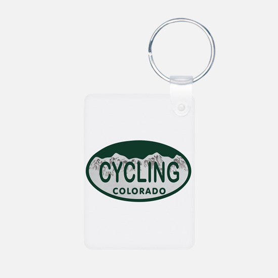 Cycling Colo License Plate Keychains