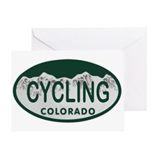 Cycling Colo License Plate Greeting Card