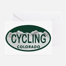 Cycling Colo License Plate Greeting Cards (Pk of 2