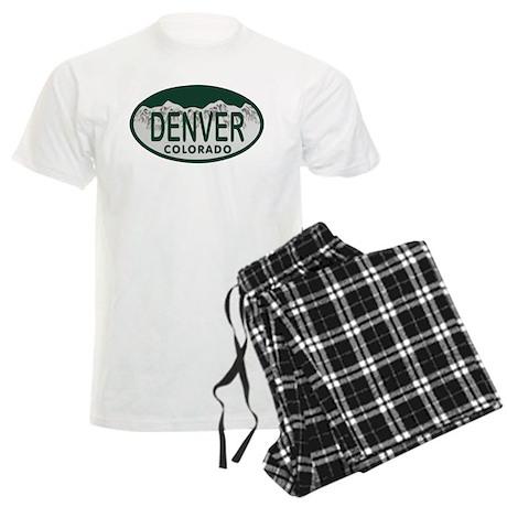Denver Colo License Plate Men's Light Pajamas