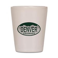 Denver Colo License Plate Shot Glass