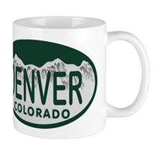 Denver Colo License Plate Mug