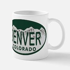 Denver Colo License Plate Small Small Mug