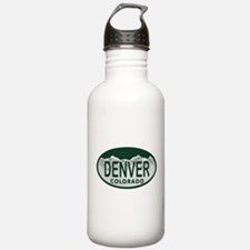 Denver Colo License Plate Water Bottle