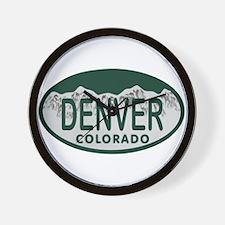 Denver Colo License Plate Wall Clock