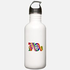 70s PEACE SIGN Water Bottle