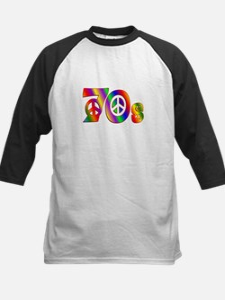 70s PEACE SIGN Kids Baseball Jersey