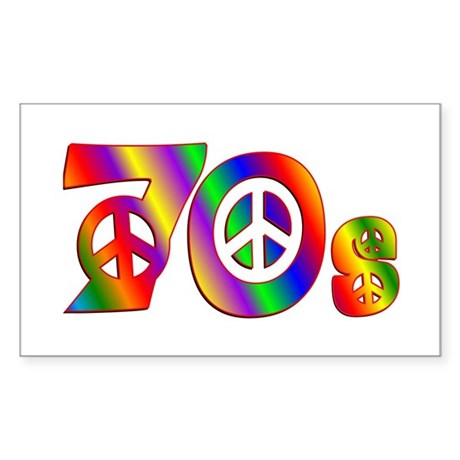 70s PEACE SIGN Sticker (Rectangle)