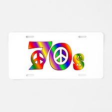 70s PEACE SIGN Aluminum License Plate