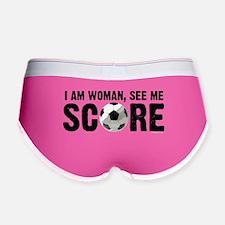 See Me Score Soccer Women's Boy Brief