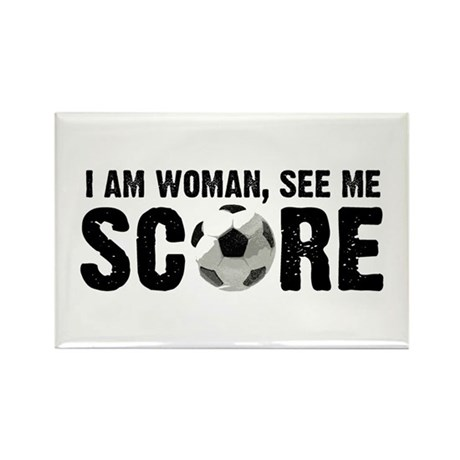 See Me Score Soccer Rectangle Magnet (10 pack)