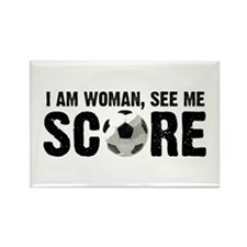 See Me Score Soccer Rectangle Magnet