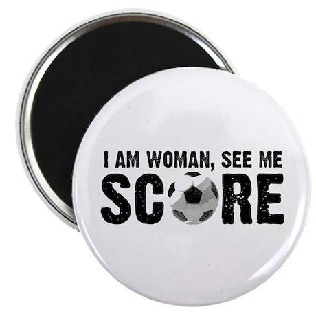 See Me Score Soccer Magnet