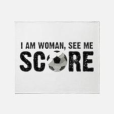 See Me Score Soccer Throw Blanket