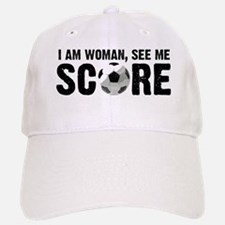 See Me Score Soccer Baseball Baseball Cap