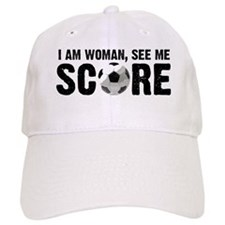 See Me Score Soccer Baseball Cap
