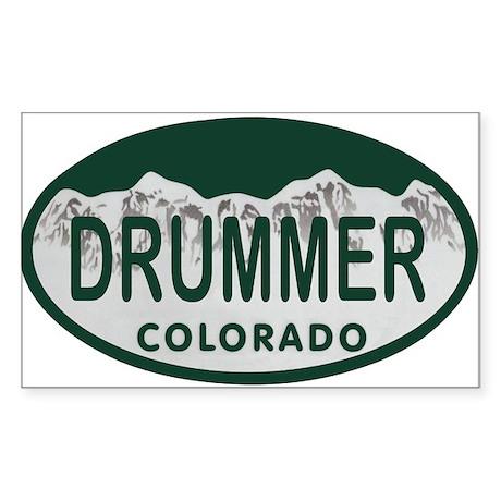 Drummer Colo License Plate Sticker (Rectangle)