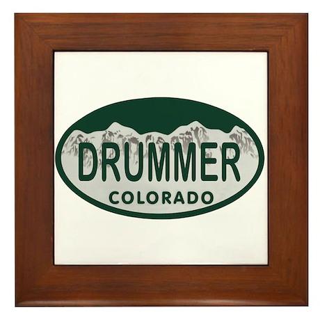Drummer Colo License Plate Framed Tile
