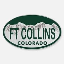 Ft Collins Colo License Plate Sticker (Oval)