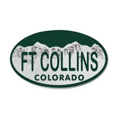 Ft Collins Colo License Plate Wall Decal