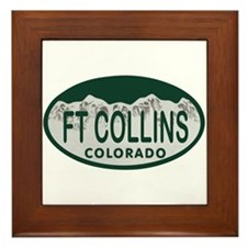 Ft Collins Colo License Plate Framed Tile