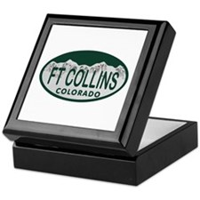 Ft Collins Colo License Plate Keepsake Box
